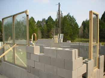 Cinder block house diy