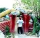 Organic sculpted snake wall