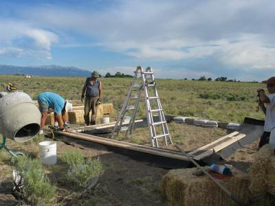 Straw Bale House Footing
