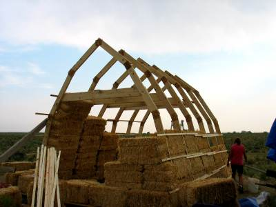 Straw bale houses on large scale?