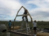 Starting the Straw Bale House Frame