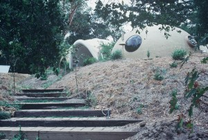 Entrance to Lloyd Turner's ballon form house