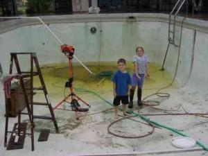 Kinch pool before stucco