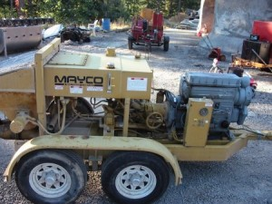 Mayco grout pump