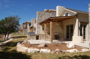stucco on a rustic home