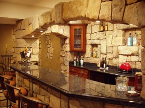 Faux Rock Kitchen