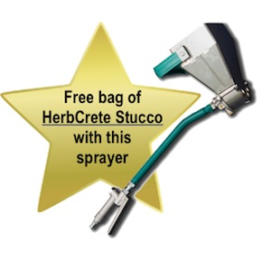 3 jet wall gun stucco sprayer