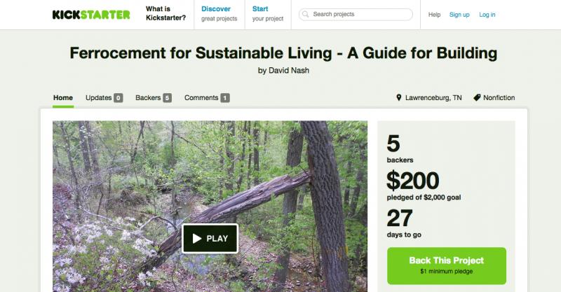 ferrocement kickstarter campaign