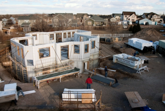 SCIP panel house in process