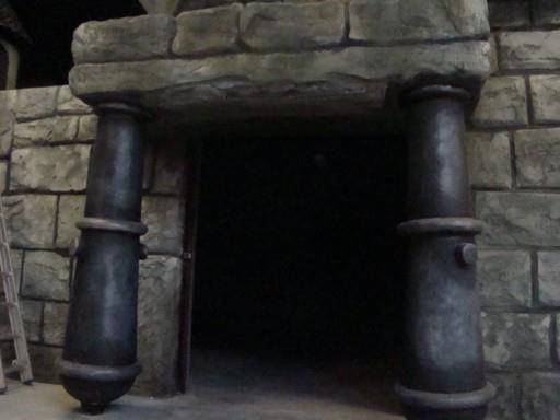 set design castle entry