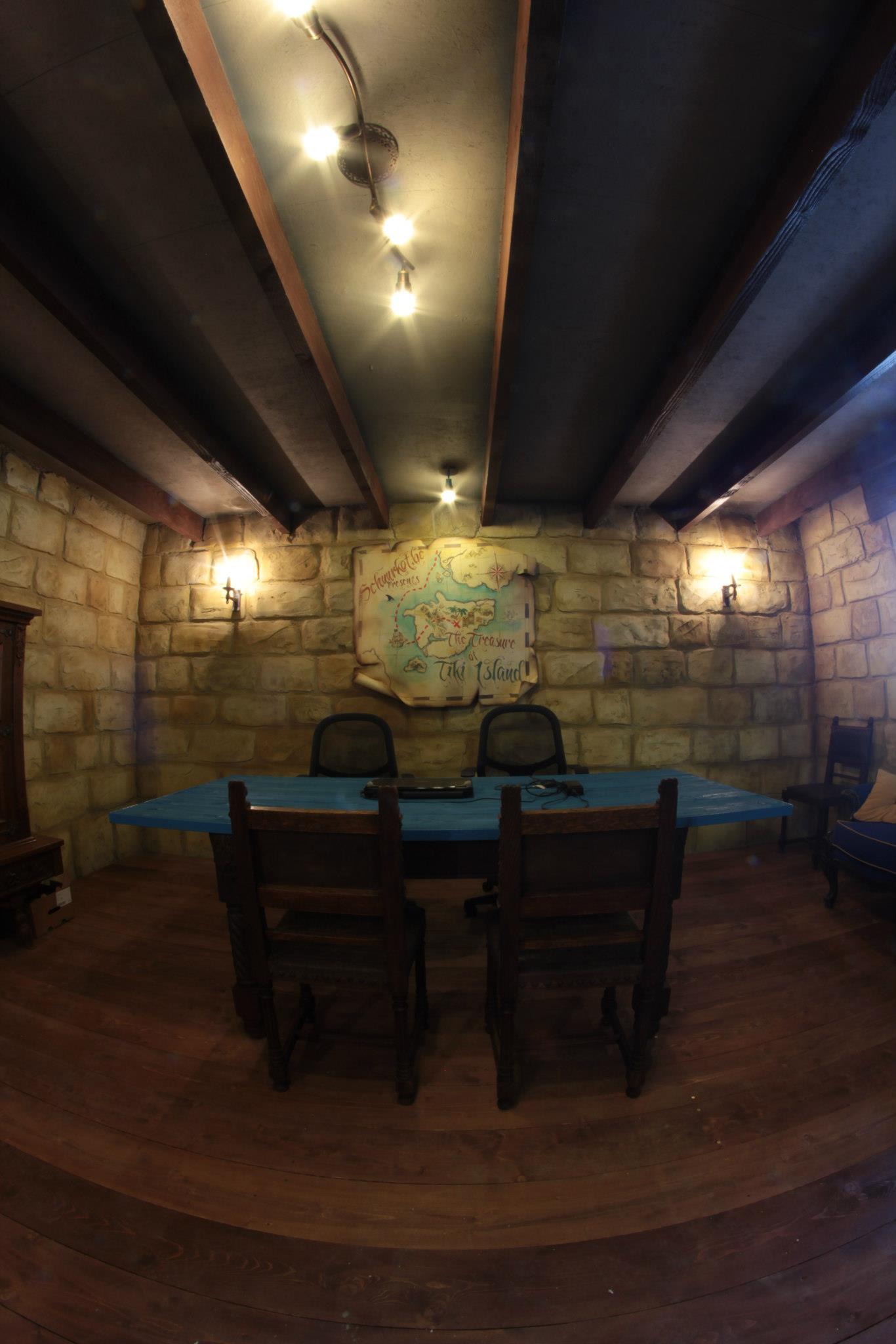 set design stone castle room