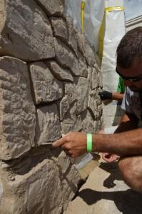 Carving faux rock in Flex C Ment