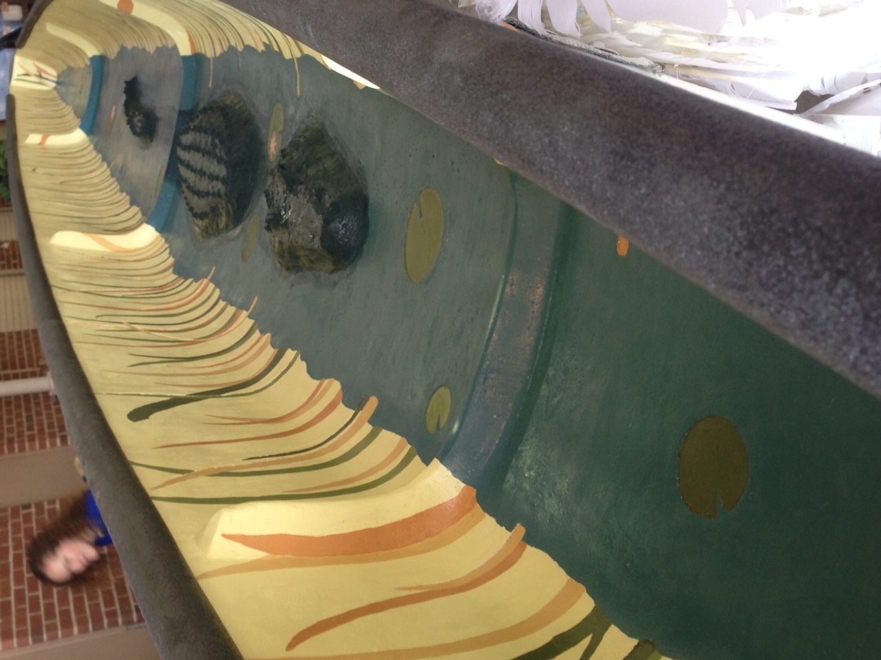 inside concrete canoe UFL display at concrete canoe conference 2015 from ASCE flickr page
