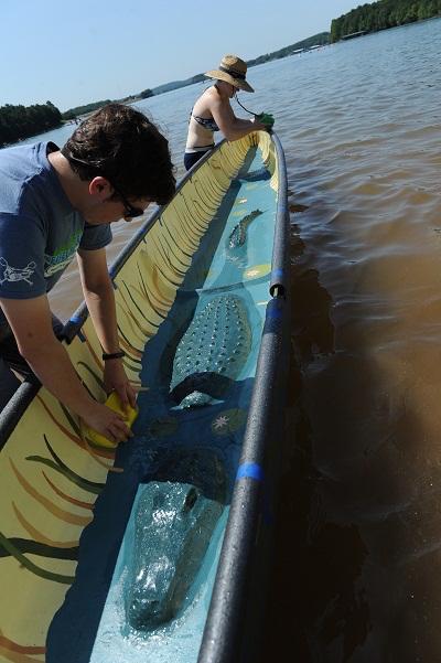 UF Concrete Canoe team 2015 canoe