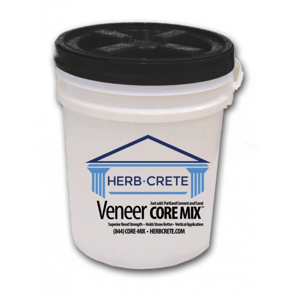 herbcrete veneer core mix bucket kit
